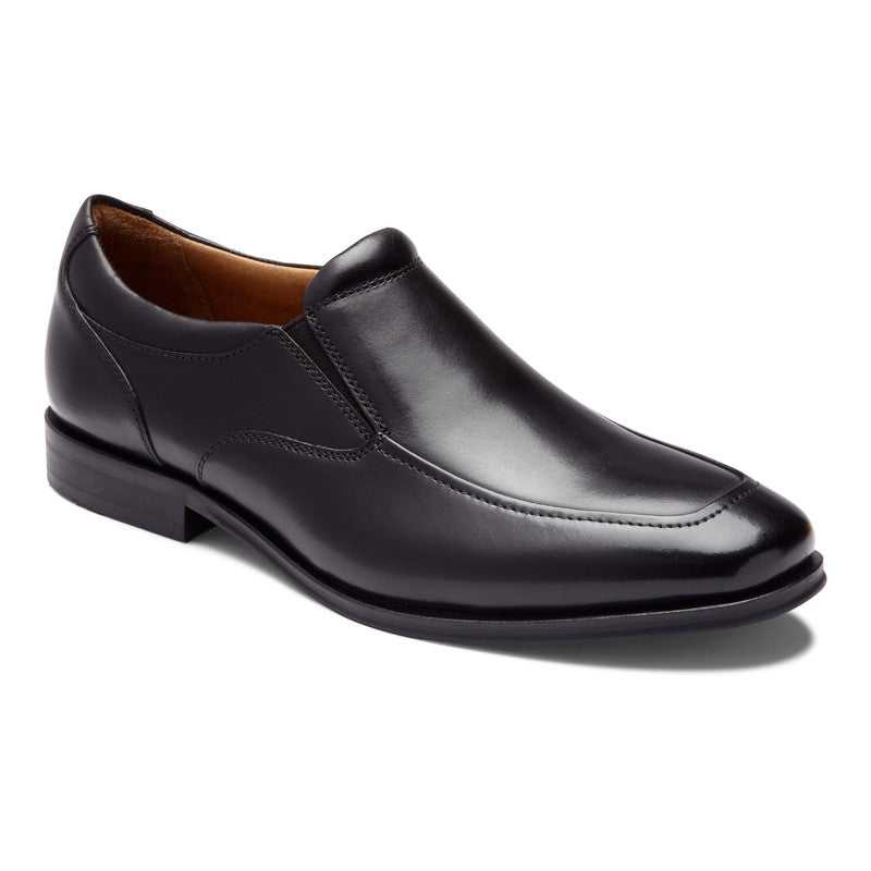 SPRUCE SULLIVAN - BLACK LEATHER SLIP-ON