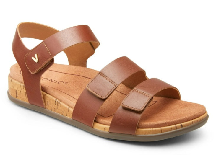 Brown Leather Adjustable Sandal