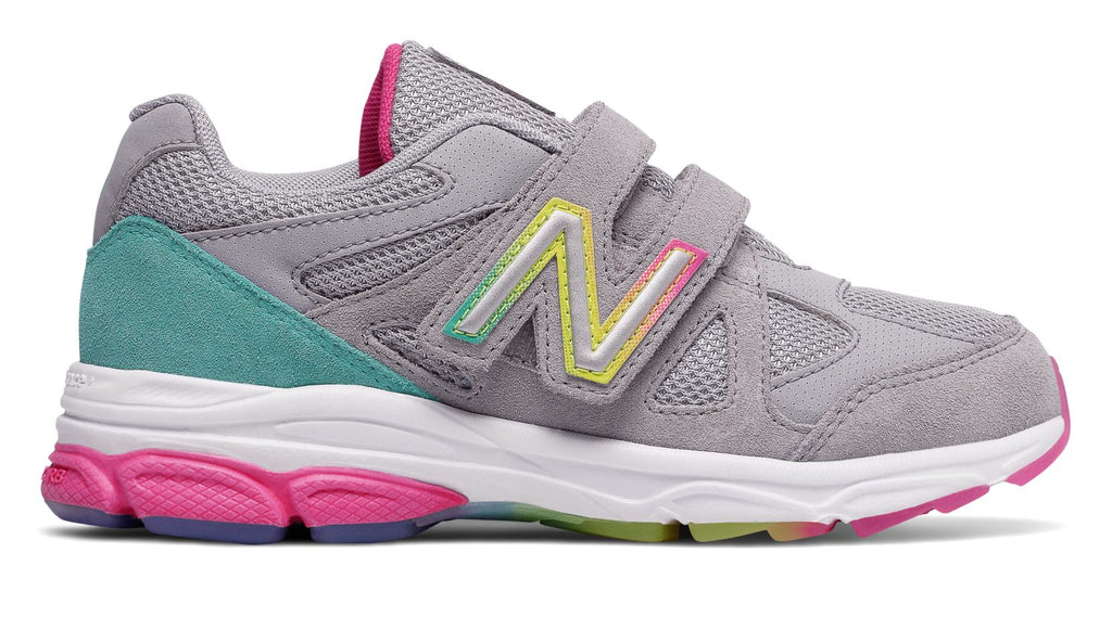 Girls Infant 888v1 - Silver Mink/Rainbow