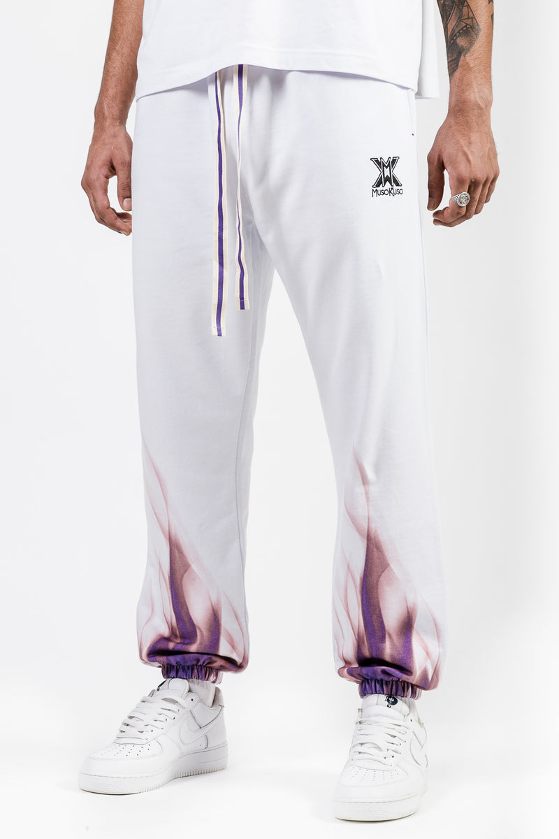 MUSO KUSO WHITE FUEGO Track Pants