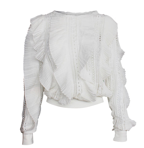 Ophelia Ruffle Knit Sweater