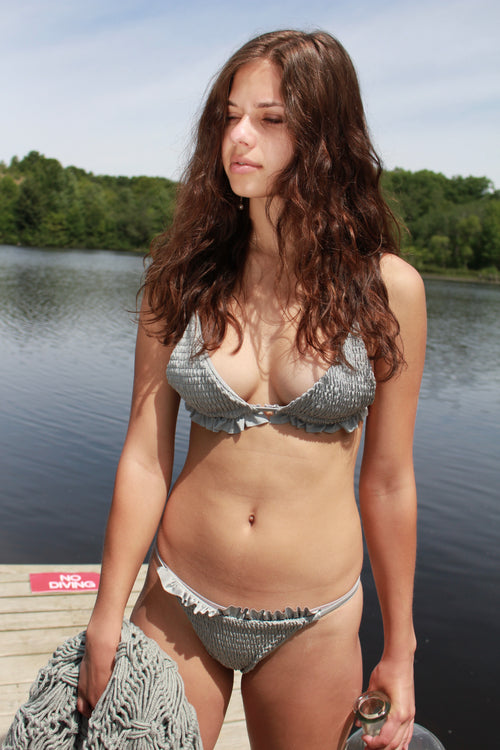 Grey Triangle Swimsuit