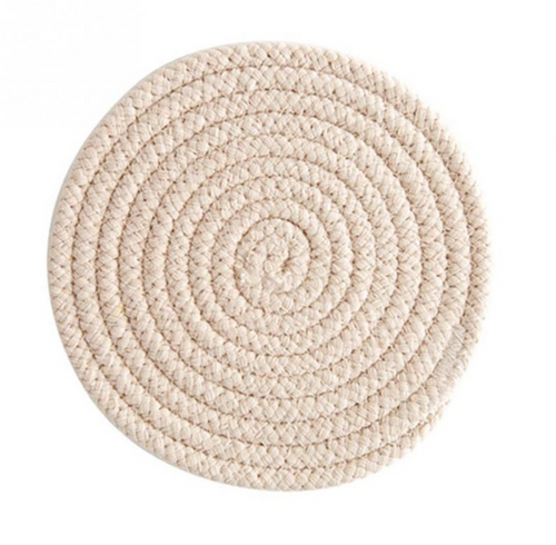 Beige Round Coaster | Set of 4