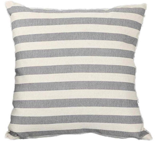 Grey Striped Linen Pillow Cover