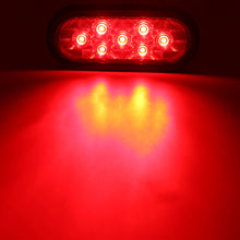 "6"" Oval LED Tail Light, 7 SMD- Clear/ RED"