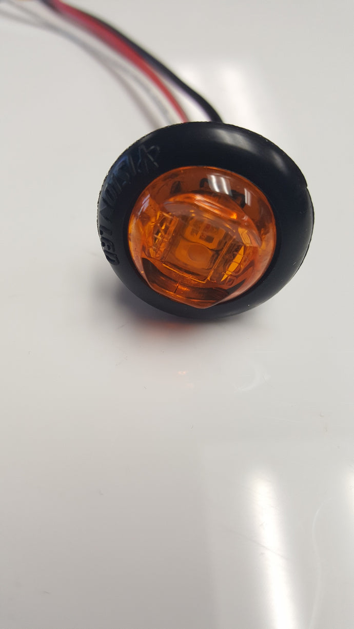 3/4'' LED Dual Intensity Bullet Clearance/ Marker Light- 3 Diode- Amber/ Amber