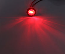 "3/4"" Clear/Red LED Dual Function Clearance/Turn/Marker Bullet Light, 3 diodes"