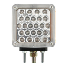 SQUARE DOUBLE FACE PEARL LED PEDESTAL LIGHT - CLEAR LENS