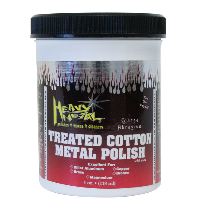 Treated Cotton Metal Polish- Red