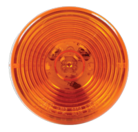 "2"" Round Amber LED Clearance/Marker Single Diode Light"