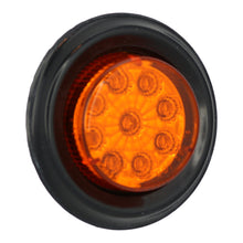 "Mirrored Lens Sealed 2"" Round LED Amber Clearance / Side Marker Light- Amber/ Amber"