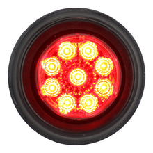 "Mirrored Lens Sealed 2"" Round LED Red Clearance / Side Marker Light- Red/ Red"