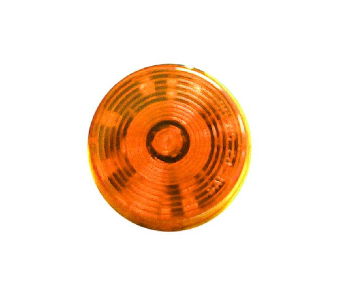 Sealed 2'' Round LED Clearance/ Side Marker Light-Amber/ Amber