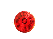Sealed 2'' Round LED Clearance/ Side Marker Light- Red/ Red