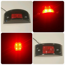 Red LED 24V Military Spec Marker Light with Black Bezel
