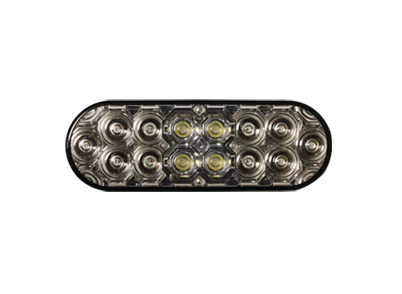 Oval LED Tail Combo and Integrated Back Up Light-Clear