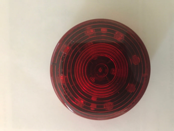 "Sealed 2.5"" Round LED Red Clearance/Side marker Light"