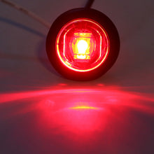 "3/4"" Clear Lens Red SMD LED Mini Button Light (AKA Penny Lights)"