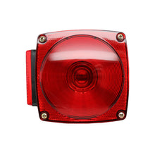 "Red Incandescent Square Box Light Under 80"" Combination Stop/Turn/Tail Light, Street Side with License Light"