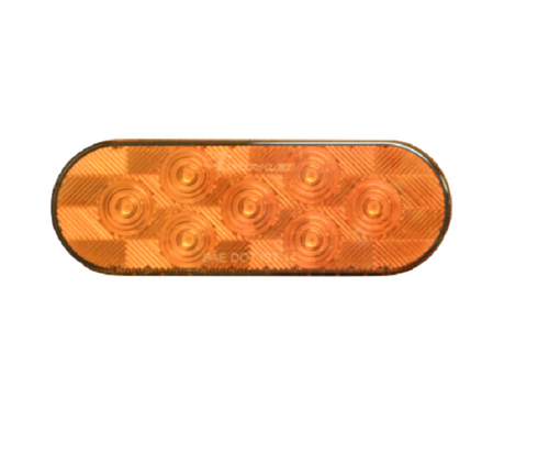6'' Oval Sealed Amber LED Parking and Turn Signal Light