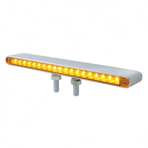 19 LED Reflector Double Face Light Bar- Amber, Red LED/ Amber, Red Lens