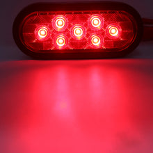 "6"" Oval LED Tail Light, 7 SMD- RED/ RED"