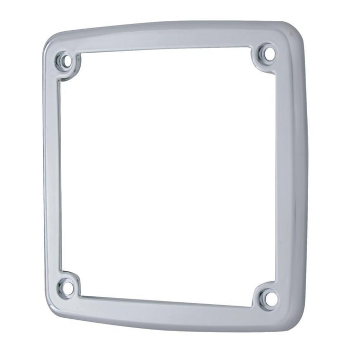 Square LED Stud Mounted Turn Signal Bezel w/o Visor