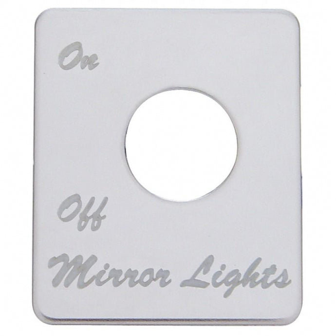Peterbilt Stainless Switch Plate - Mirror Light