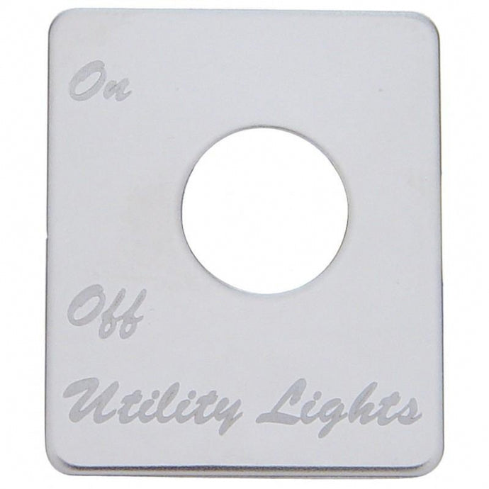 Peterbilt Stainless Switch Plate - Utility Light