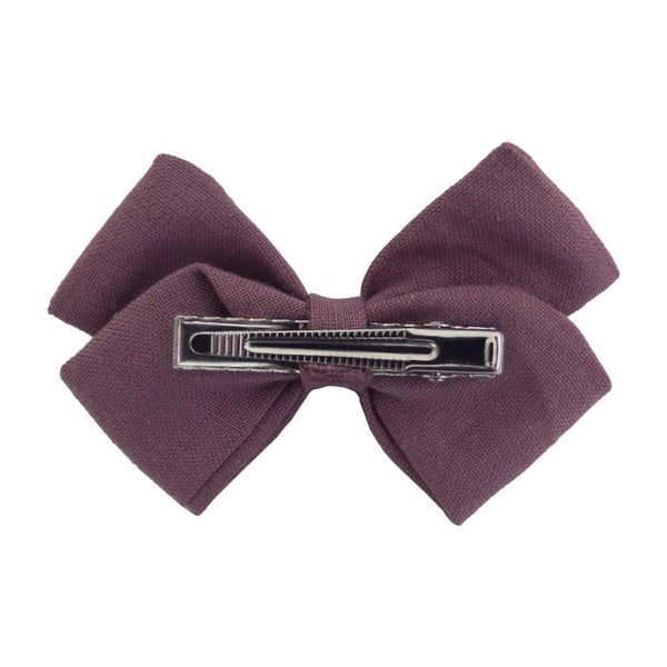 4 Piece Linen Bow Clip Collection, Various Colors - momma.shop