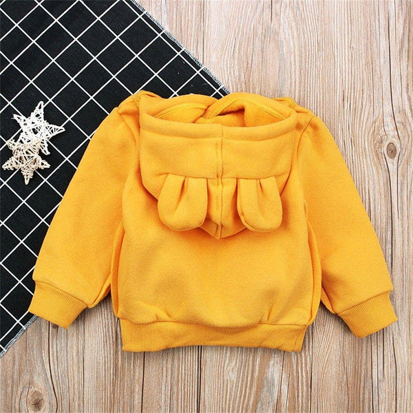 Bear Ear Hoodie Sweatshirt, Kangaroo Pouch - momma.shop