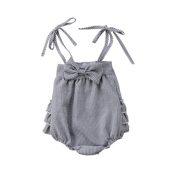 Bow and Ruffle Romper, Various Colors - momma.shop