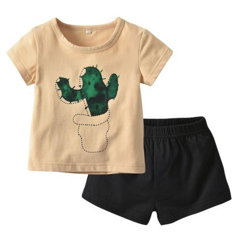 Cactus T-Shirt Outfit, 2 Piece - momma.shop