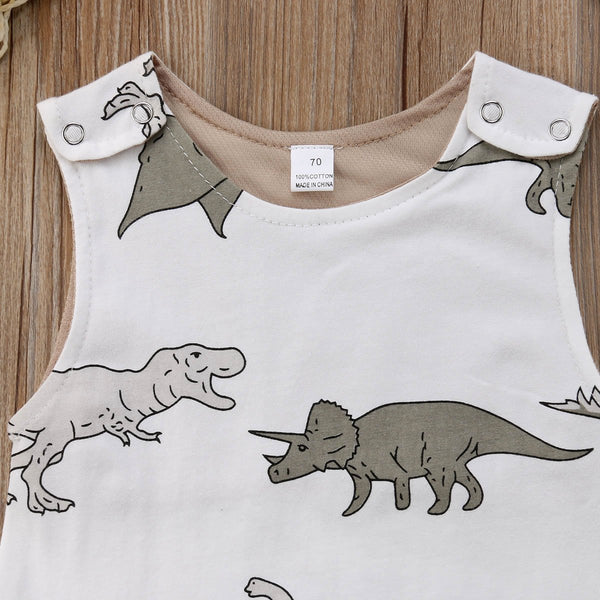 Dino Romper with Hat - momma.shop