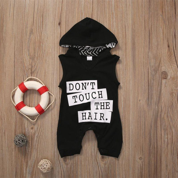 Don't Touch the Hair Romper with Hood - momma.shop