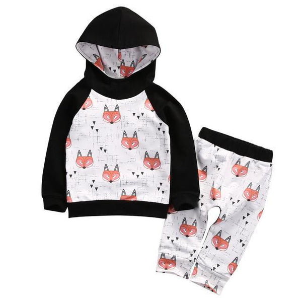 Fox Hooded Track Suit Outfit - momma.shop