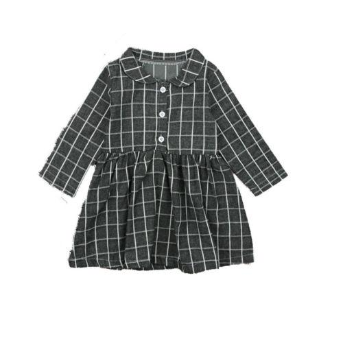 Grid Button Down Dress - momma.shop