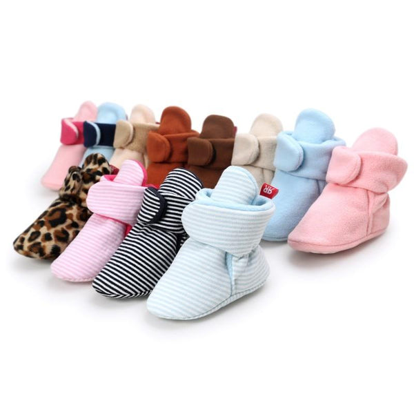 Soft Cozy Booties Crib Shoes, Various Colors - momma.shop