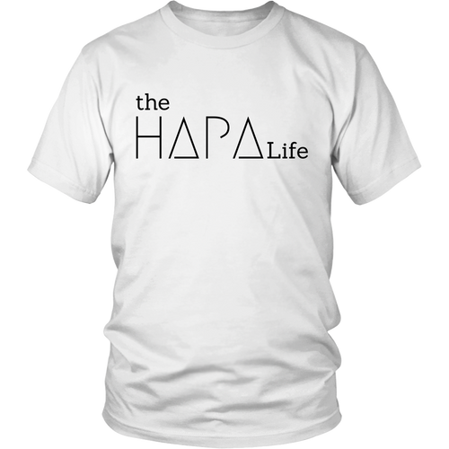 the Hapa Life  T - Black logo