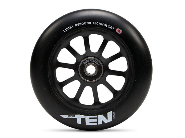 LUCKY TEN 120mm WHEELS - Black/Black