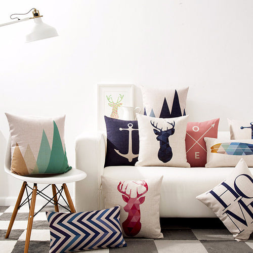 Patterned Animal Throw Pillow