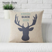 Nordic Deer Throw Pillow