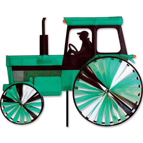 Modern Green Tractor Wind Spinner