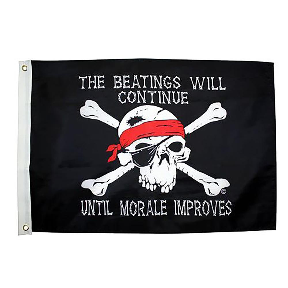 Beatings Will Continue 3x5 Grommet Flag
