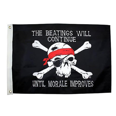 Beatings Will Continue 3x5 Grommet Flag - Kitty Hawk Kites Online Store