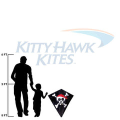 Skull & Crossbones 30 Inch Diamond Kite