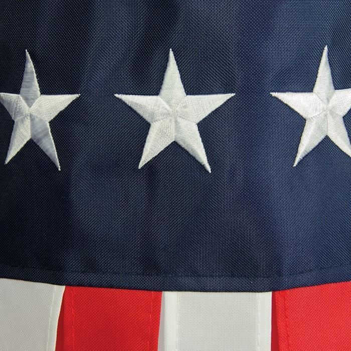 Stars & Stripes Embroidered 40 Inch Windsock