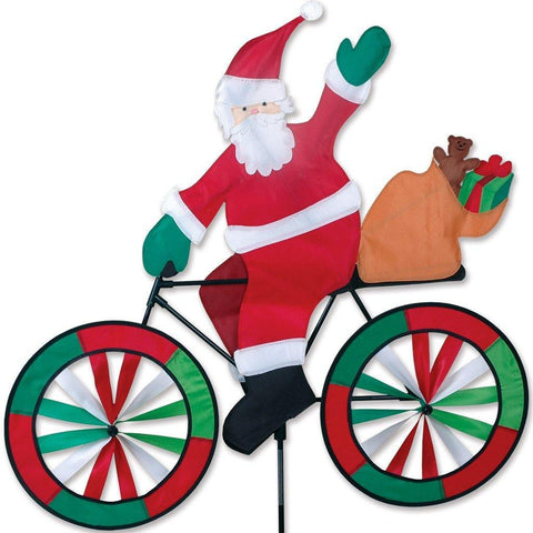 Santa On Bike Wind Spinner - Kitty Hawk Kites Online Store