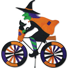 Witch On Bike Wind Spinner