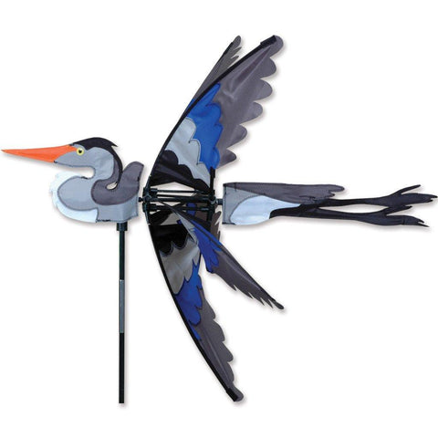 Great Blue Heron Bird 30 Inch Wind Spinner